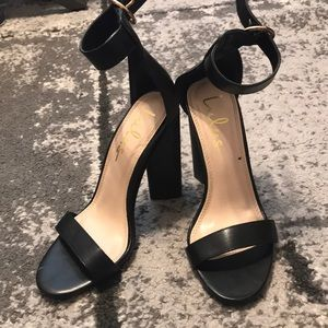 c80ce7bd702 Lulu s Black Leather Heels